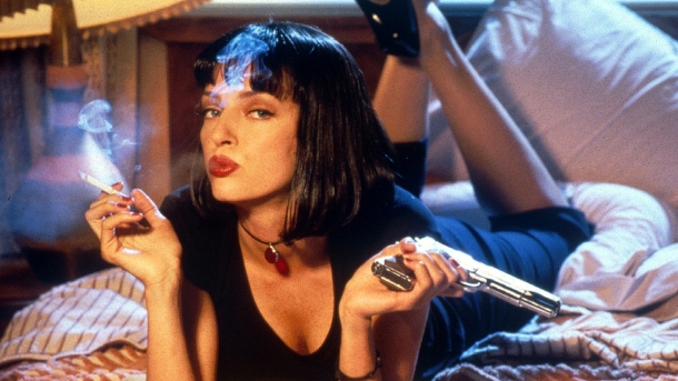 "Uma Thurman în ""Pulp Fiction"""